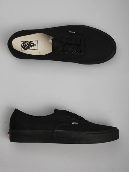 all black vans off the wall