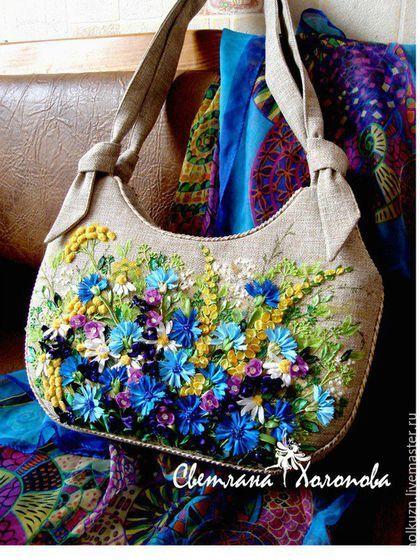 13d7767b05d7 Женские сумки ручной работы. Ярмарка Мастеров - ручная работа. Купить  Льняная сумочка