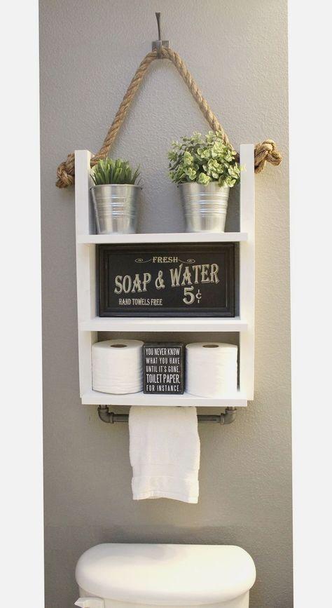 Pin Von Sabrina Morouco Auf Einrichten Badezimmer Regal Badezimmer Dekor Bauernhaus Badezimmer