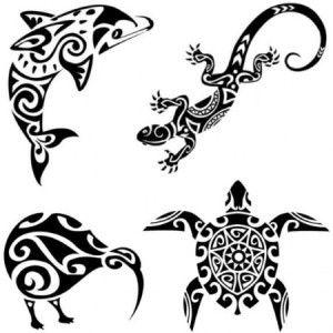Maori shoulder polynesian hawaian temporary tattoos moana tribal - maori tattoos - tattoo-sticker