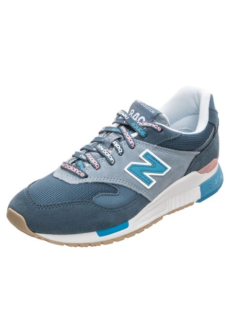 619f2afc80fb Damen New Balance Sneaker WL840-RTC-B blau rosa weiß | - Kategorie: Damen  SchuheSneakerSneaker LowSneaker Material: Veloursleder; Material: Leder; ...