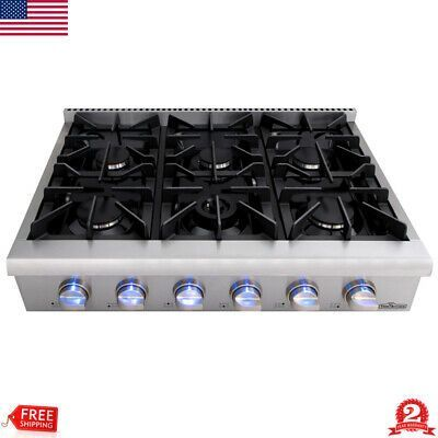 Sponsored Link 36 Gas Hob Gas Cooktop 6 Burners Built In Stove Kitchen Easy C Gas Cooktop Gas Hob Cooktop