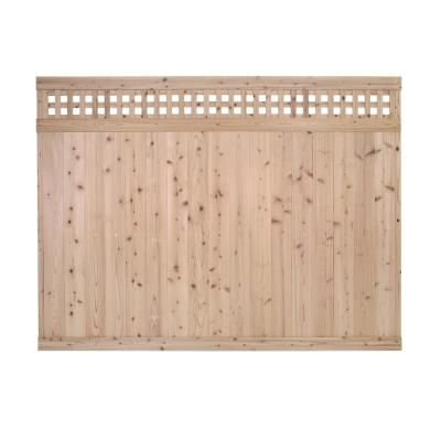 Signature Development 6 Ft H X 6 Ft W Western Red Cedar Horizontal Lattice Top Fence Panel Kit 6x6horiztopfkit The Home Depot Fence With Lattice Top Fence Panels Square Lattice