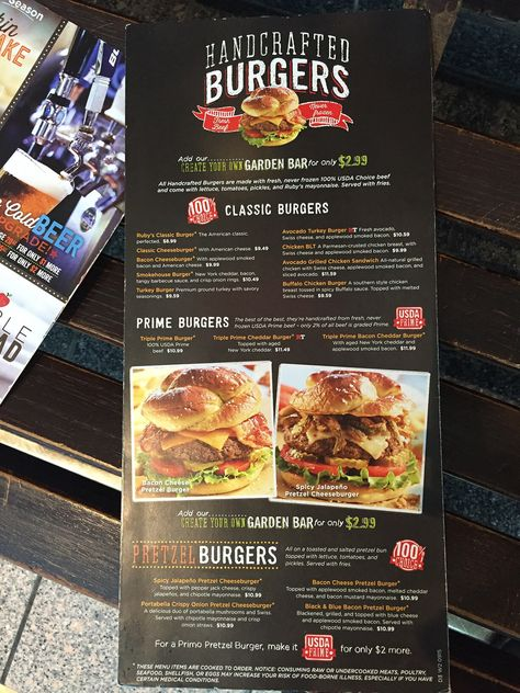 photo about Ruby Tuesday Printable Menu titled Pinterest