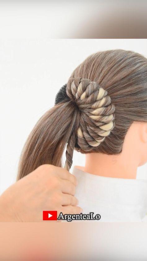 Easy Twist roll Bun Hairstyle 🤎