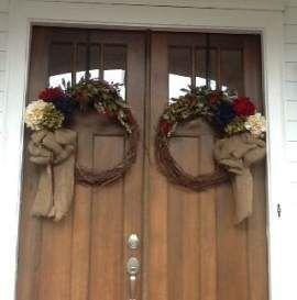 Door 54 Trendy Double 54 Trendy Double Door Wreaths Flower