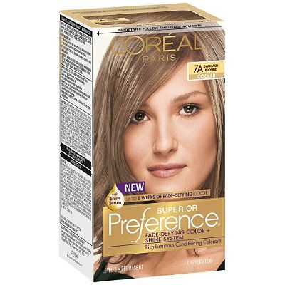 L Oréal Superior Preference Fade Defying Color Shine Color Dark Ash Blondedark Ash Blonde Dark Ash Blonde Loreal Hair Color Ash Blonde