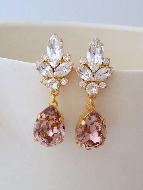 #weddings #jewelry #earrings #bridesmaidgift #bridalearrings #vintageearrings #bridesmaidsearrings #bridalwedding #swarovskiearrings #crystalearrings #gatsyearrings #chandelierearrings #bridesearrings #bridaljewelry #blushearrings #blushwedding