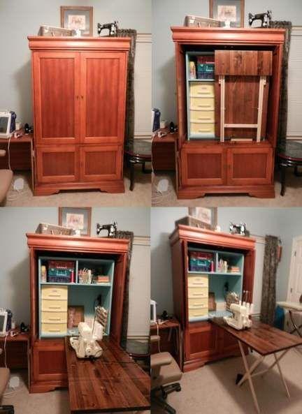 44+ ideas craft organization armoire entertainment center