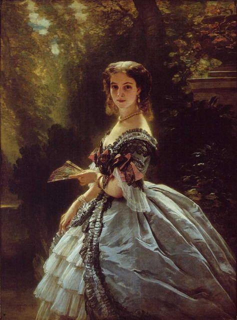 Princess Elisaveta Esperovna Troubetzkaya by Franz Xaver Winterhalter, 1859…