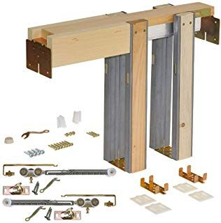 Johnson Hardware 1500 Soft Close Series Commercial Grade Pocket Door Frame For 2x4 Stud Wall 30 Inch X 80 Pocket Door Frame Pocket Doors Pocket Door Hardware