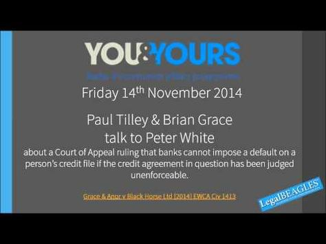 Paul Tilley \ Brian Grace talk to Peter White about a Court of - credit agreement