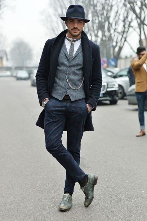 Mariano Di Vaio in Street Style Day 1 - Milan Fashion Week Menswear Autumn/Winter 2014 - Ανδρική μόδα - hochzeitsgastoutfit