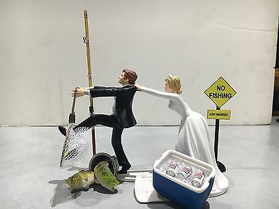 Fish-Fishing-Wedding-Cake-Topper-Funny-Humor-Bride-Groom-Coors-Light-Pole-Sign