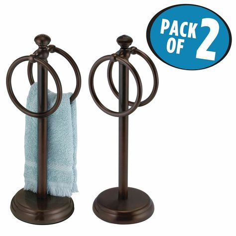 Dual Guest Fingertip Towel Stand Holder For Bathroom In 2020