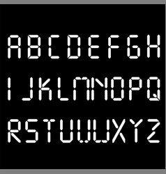 Digital Font Alarm Clock Letters Numbers And Vector Image On Vectorstock Font Digital Lettering Electronic Font