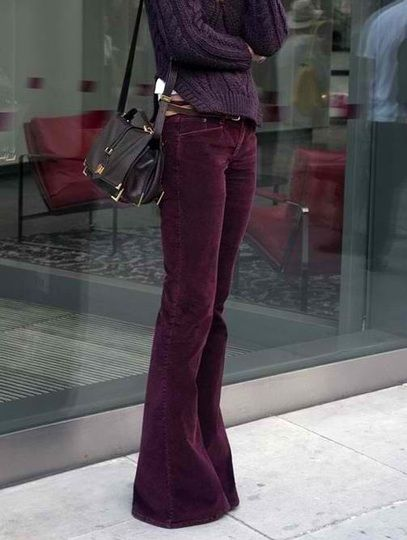#flares #burgundy #purple #fallfashion