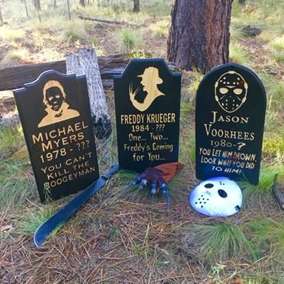 Choice of Horror Movie Tombstones - Yard Ornament Grave Head Stone Tomb Halloween Decoration - Pennywise