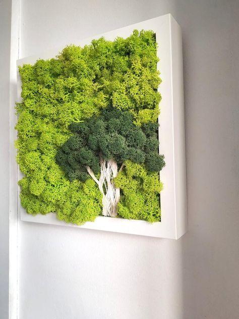 Pin By Pevzner Zafrira On Kitchen Decor In 2020 Moss Wall Art