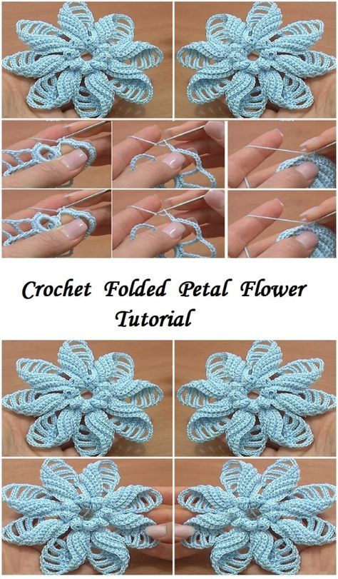 4 Spiral Flower Tutorials Which One Do You Like The Most Design Peak Crochet Flower Tutorial Crochet Flower Patterns Crochet Rose