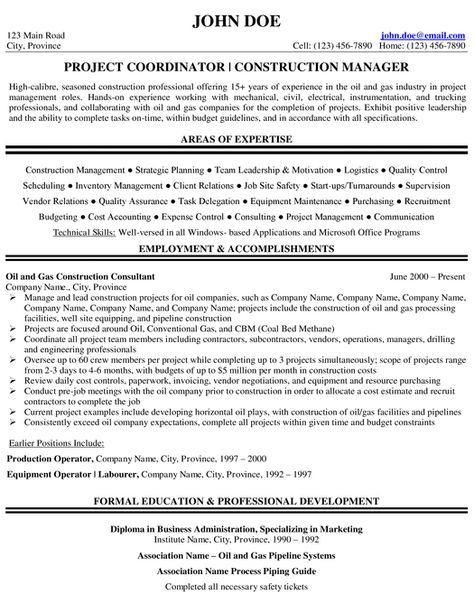 Project Manager Resume Sample Project Manager Resume Manager Resume Oil And Gas