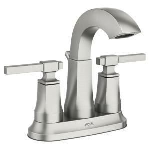 Moen Ayda 4 In Centerset 2 Handle Bathroom Faucet In Spot Resist