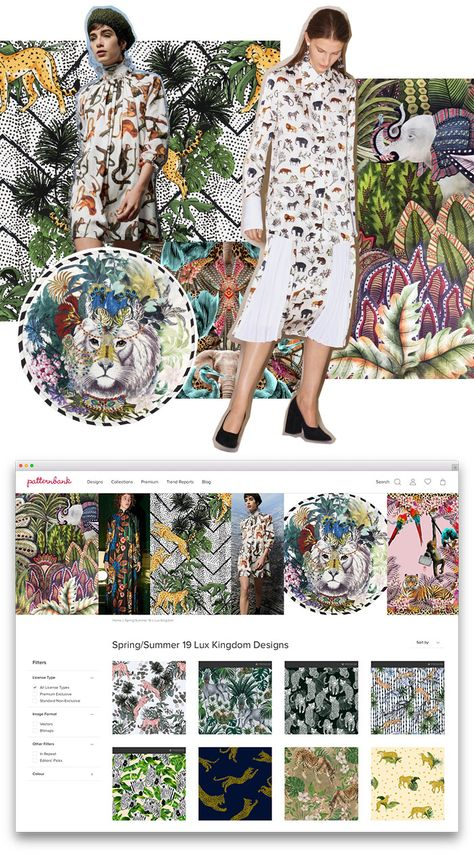 If you're looking for exclusive on-trend print and pattern designs for your latest collections then we've got you covered. Check out our hand curated collections area on the Patternbank Studio. Here are a few from our Spring/Summer 2019 Collections. #trends