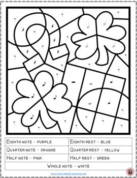 Music Lessons St Patrick S Day Music Activities 26 St Patrick S Day Music Coloring Pages Mus St Patrick S Day Music Music Coloring Music Activities