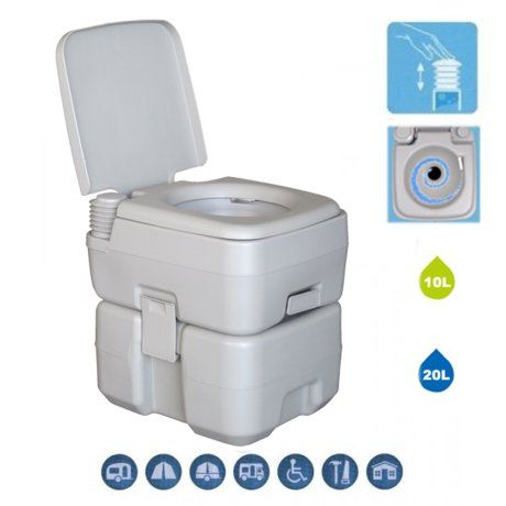 Ktaxon 20l Portable Outdoor Camping Flushing Toilet Wc Commode