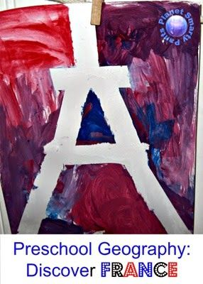 Love this Eiffel Tower activity! Perfect for a unite on France or Europe! {Preschool Geography: Discover France}