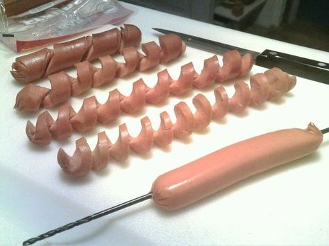 Spiral Cut Hot Dogs...Fun!