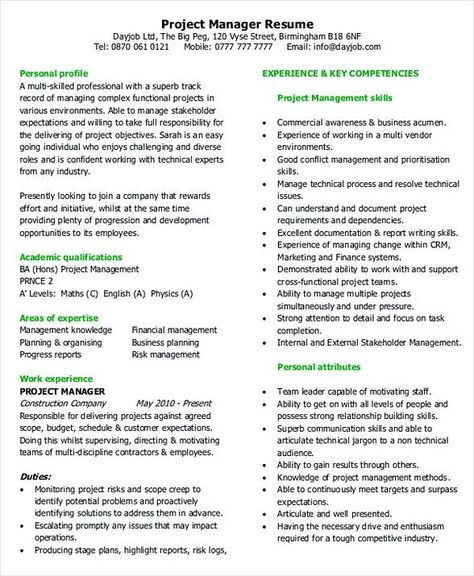 Business entry level project Management Resume , Entry Level Project