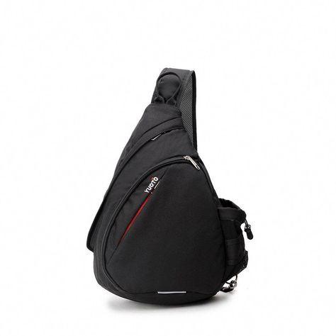 33302f2858 YUOTO Sling Backpack One Strap Crossbody Rope Sling Shoulder Bag Women Men  black. ♢Size