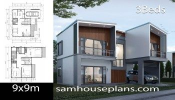 House Plans Idea 10x7 With 3 Bedrooms Sam House Plans In 2020 House Plans Model House Plan 3d House Plans