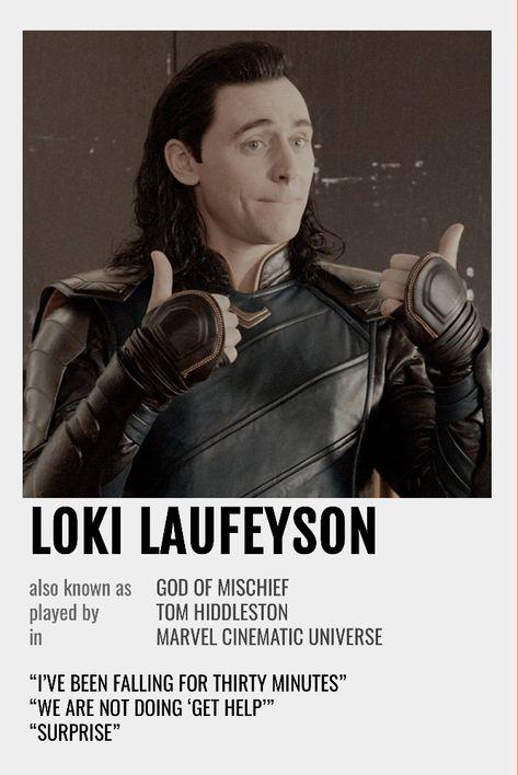 Loki Polaroid Poster