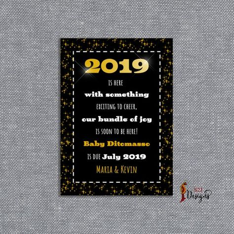 new year pregnancy announcement card 2019 pregnancy announcement pregnancy announcement grandparents parents uncle aunt new year card