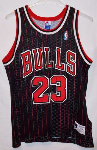 ... Michael Jordan 23 Stripe Black and Red Jersey. Chicago Bulls Retro  Jersey. c22452a1b4