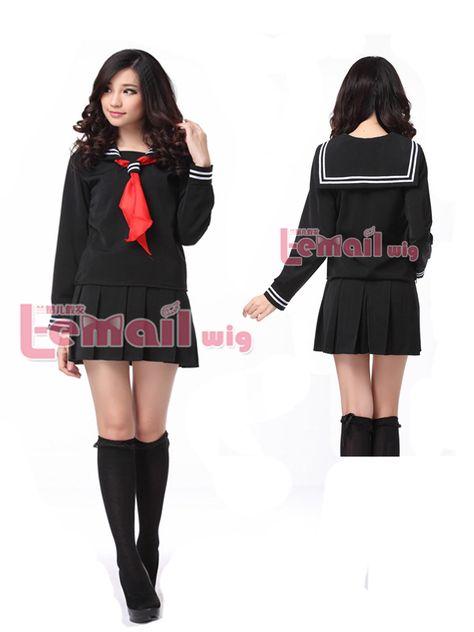 Hell Girl//Jigoku Shoujo Enma Ai School Sailor Uniform Cosplay Costume Dress