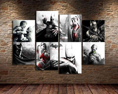 Batman The Joker HD Canvas Prints Painting Home Decor Picture Wall Art Unframed