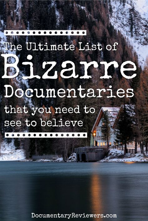 If you're looking for bizarre documentaries, you've found the perfect list! These weird stories are too bizarre to not be true and they're all entertaining to boot. Enjoy your next movie night! Best Documentaries On Netflix, Netflix Movies To Watch, Netflix Tv, Shows On Netflix, Spiritual Documentaries, Good Movies To Watch, Vegan Documentaries, Netflix Streaming, Castle Tv