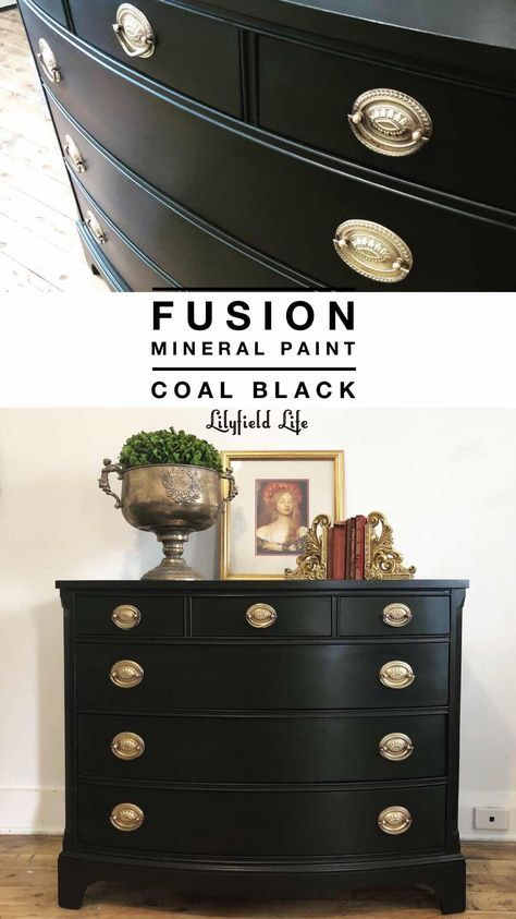 21 Super Ideas Black Chalk Painted Furniture Drawers Black Chalk Paint Furniture Black Painted Furniture Painted Furniture