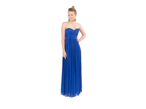 Vestido Largo Rue De La Paix Cosmomoda M13128 Azul Dresses
