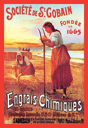 Societe de St. Gobain en 2020 | Engrais, Affiche vintage et Affiche