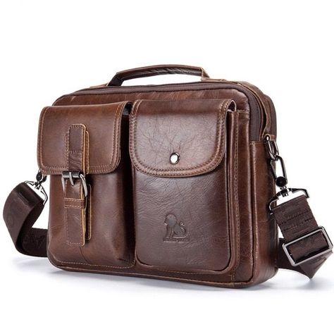 HOT Men Leather Briefcase Shoulder Bag Casual Business Handbag Tote Messenger