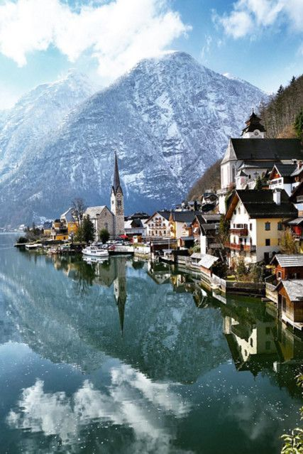 Hallstatt, Austria - Escapes That Are Total Winter Wonderlands - Photos - Travel Oh The Places You'll Go, Places To Travel, Places To Visit, Beautiful Places In The World, Amazing Places, Dream Vacations, Vacation Spots, Dachstein Austria, Europe Destinations