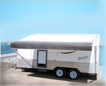 Sunburst Awnings Manufactured In Australian And Built To Last Off The Shelf Sizes Range From 6 To 25 Caravan Awnings Roll Out Awning Recreational Vehicles