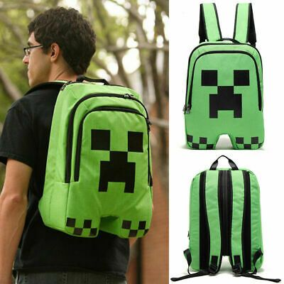 16 inch Minecraft Creeper Zipper Backpack Boy/'s School Bag Shoulders Bags 20L