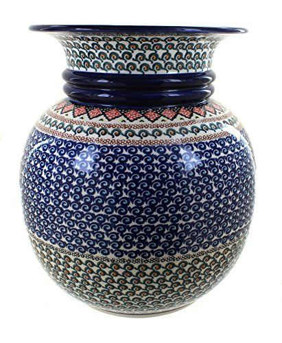 Polish Pottery Blue Horizon Floor Vase You Can Find Out More Details At The Link Of The Image This Is An Amazon Floor Vase Polish Pottery Large Floor Vase