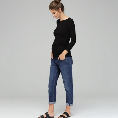 db1e78f95780f The Relaxed Maternity Jean | Isabella Oliver | Maternity Jeans ...