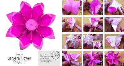 Gerbera Flower Origami Origami Blume Gerbera Blume Gerbera